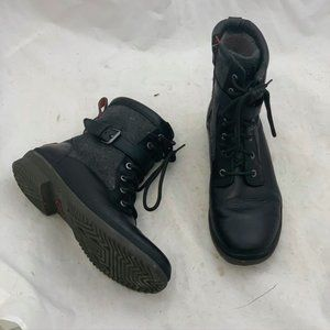 UGG Black Waterproof Leather Wool Lined Kesey Comb